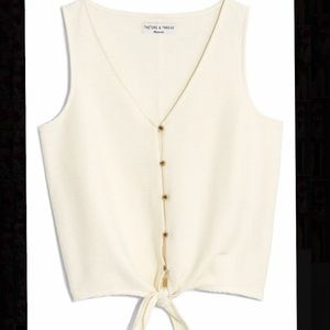 Madewell Texture and Thread button-up tank XXS